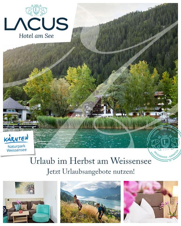 LACUS - Babyhotel Herbsturlaub Familie Weissensee Kärnten